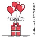 valentines day card with... | Shutterstock .eps vector #1287238042
