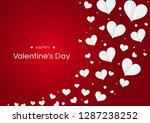 happy valentines day with paper ... | Shutterstock .eps vector #1287238252