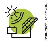 solar energy. eco energy... | Shutterstock .eps vector #1287247882