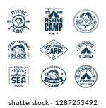 set of isolated sport fishing... | Shutterstock .eps vector #1287253492
