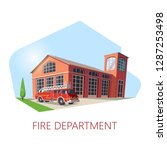 fire station building or fire... | Shutterstock .eps vector #1287253498