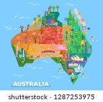 Map Of Australia With Landmarks ...