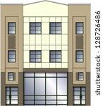 modern building facade | Shutterstock .eps vector #128726486