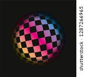 colored grids spherical 3d... | Shutterstock .eps vector #1287266965