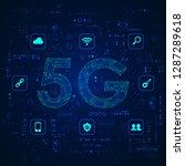 concept of communication... | Shutterstock .eps vector #1287289618
