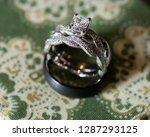 wedding detail close up. brides ... | Shutterstock . vector #1287293125
