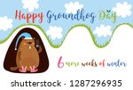 happy groundhog day. greeting...   Shutterstock .eps vector #1287296935