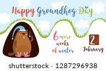 happy groundhog day. greeting...   Shutterstock .eps vector #1287296938