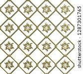3d gold seamless pattern on... | Shutterstock . vector #1287301765