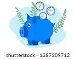 time is money. save time.... | Shutterstock .eps vector #1287309712