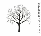tree silhouette on white... | Shutterstock . vector #1287317752