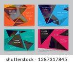 original presentation templates.... | Shutterstock .eps vector #1287317845