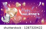 happy valentines day violet... | Shutterstock .eps vector #1287320422