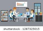 business meeting teamwork.... | Shutterstock . vector #1287325015