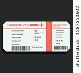 airline boarding ticket for... | Shutterstock .eps vector #1287353602