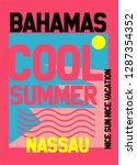 bahamas cool summer t shirt... | Shutterstock .eps vector #1287354352