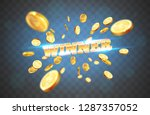 the gold word winner  amid the...   Shutterstock .eps vector #1287357052