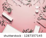 smartphone and tablet pc mock... | Shutterstock . vector #1287357145