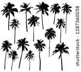 set of vector silhouettes of... | Shutterstock .eps vector #1287360058