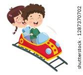 vector illustration of roller... | Shutterstock .eps vector #1287370702