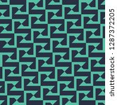 seamless neon blue vintage... | Shutterstock .eps vector #1287372205
