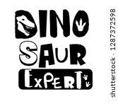dinosaur expert. t shirt design ... | Shutterstock .eps vector #1287372598