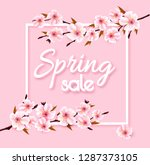 spring sale background with... | Shutterstock .eps vector #1287373105