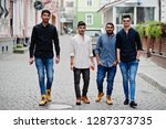 group of four indian ethnicity... | Shutterstock . vector #1287373735