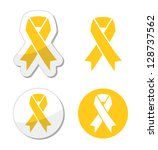 Yellow ribbon - support for troops, suicice prevention, adoptive parents symbol