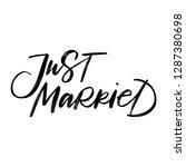 just married. wedding lettering....   Shutterstock .eps vector #1287380698