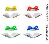 illustration of open gift box... | Shutterstock .eps vector #1287384022