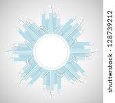 modern city background. vector | Shutterstock .eps vector #128739212