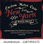 new york. cafe racer. hipster... | Shutterstock .eps vector #1287393172