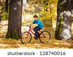 boy biking | Shutterstock . vector #128740016