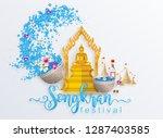 songkran festival  thailand... | Shutterstock .eps vector #1287403585