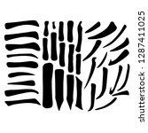 main chinese hieroglyphs... | Shutterstock .eps vector #1287411025