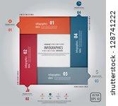 minimal infographics design.... | Shutterstock .eps vector #128741222