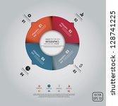 minimal infographics design.... | Shutterstock .eps vector #128741225