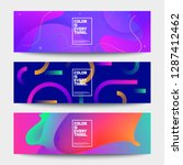 fluid color banners set.... | Shutterstock .eps vector #1287412462
