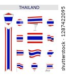 thailand flat flag collection.... | Shutterstock .eps vector #1287422095