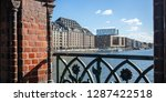 panoramic view from oberbaum... | Shutterstock . vector #1287422518