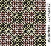 seamless pattern checkered... | Shutterstock . vector #1287423592