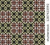 seamless pattern checkered... | Shutterstock . vector #1287423592