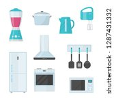 kitchenware. kitchenware ... | Shutterstock .eps vector #1287431332