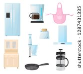 kitchenware. kitchenware ... | Shutterstock .eps vector #1287431335
