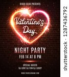 valentines day party poster... | Shutterstock .eps vector #1287436792
