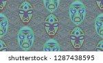 seamless folk pattern. ethnic... | Shutterstock .eps vector #1287438595
