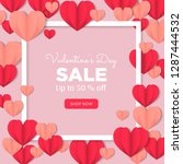 valentines day sale background...   Shutterstock .eps vector #1287444532