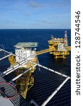 the offshore oil rig in the...   Shutterstock . vector #128744546