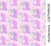 children pink seamless pattern... | Shutterstock .eps vector #1287448438